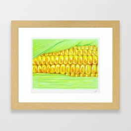 Color pencil Corn Framed Art Print