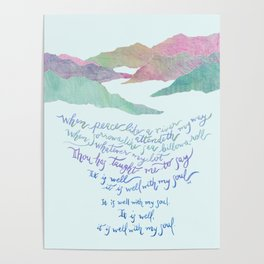 It Is Well With My Soul-Hymn Poster