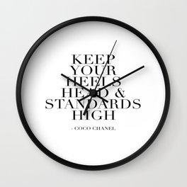 Makeup Print, Hello Gorgeous, Eyelash Print, Mascara Print, Black and White Decor, Glamour Print Wall Clock