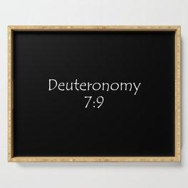 Deuteronomy 7:9 Serving Tray