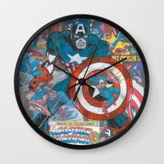 Vintage Comic Capt America Wall Clock