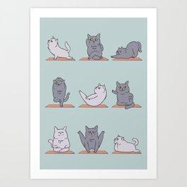 British Shorthair Cat  Yoga Art Print