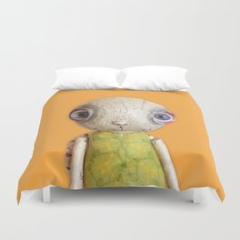 Sheldon The Turtle - Orange Duvet Cover
