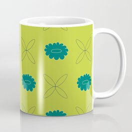 Floral pattern - green and teal Coffee Mug