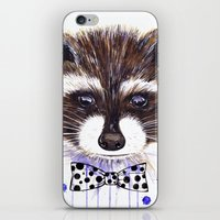 raccoon iPhone & iPod Skins featuring Raccoon by Iskoskikh Sveta