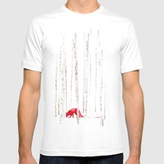 There's nowhere to run White Mens Fitted Tee X-LARGE