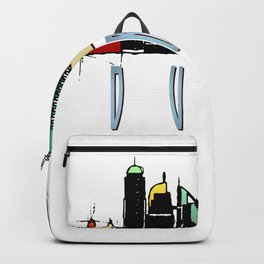 Dubai Colorful Skyline Backpack