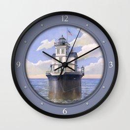 Fourteen Foot Bank Lighthouse, Delaware Wall Clock