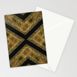 Black Gold | Tribal Geometric Stationery Cards