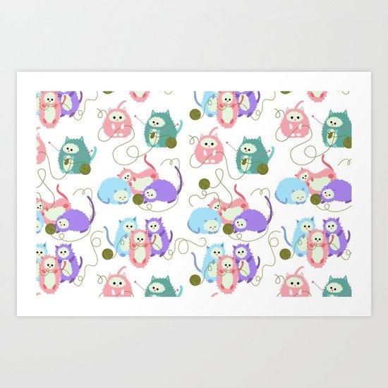 3 Little Kittens Art Print