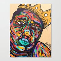 notorious Canvas Prints featuring Notorious by Spencer McCarty