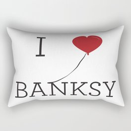 I heart Banksy Rectangular Pillow