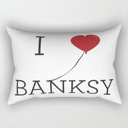 I heart Banksy Rectangular Pillow