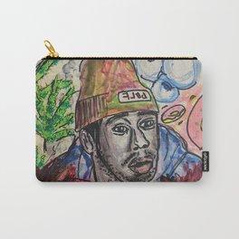 tyler,rapper,colourful,colorful,poster,wall art,fan art,music,hiphop,rap,legend,shirt,print Carry-All Pouch