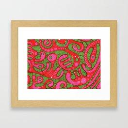 Doublewide Goove Batik Framed Art Print