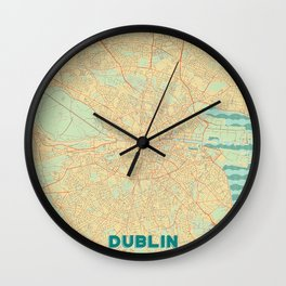 Dublin Map Retro Wall Clock