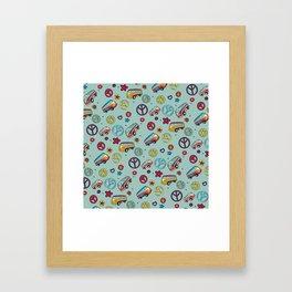 Retro  Hippie  Pattern 1 Framed Art Print