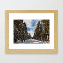 Yellowstone National Park - Grand Loop Road Framed Art Print