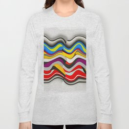 Colored Waves Long Sleeve T-shirt