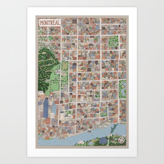 Mon Montreal Art Print