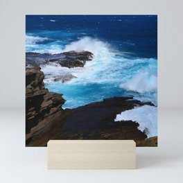 Luxurious, Tropical Ocean Surf in Azure and Turquoise Mini Art Print