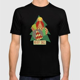 Christmas tree Minimalist green T-shirt