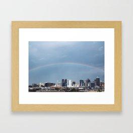 Rainbow Over Dallas Framed Art Print