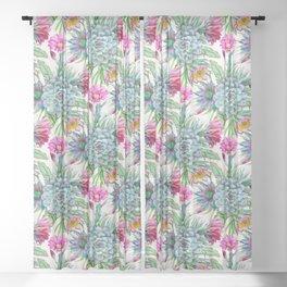 Exotic flower garden Sheer Curtain