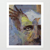 poe Art Prints featuring Poe by Michael Creese