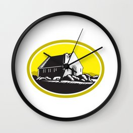 Church of Good Shepherd Lake Tekapo Retro Wall Clock