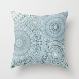 Ylide - Mandala storage Y of Alphabet collection Throw Pillow