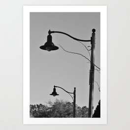 Street Lamps Art Print