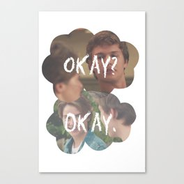 The Fault in Our Stars, Okay Canvas Print