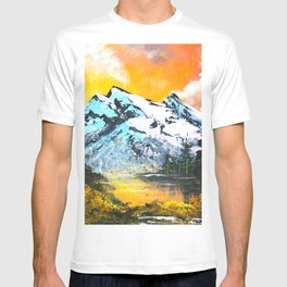 Mountain Sunset - Bob Ross Art T-shirt