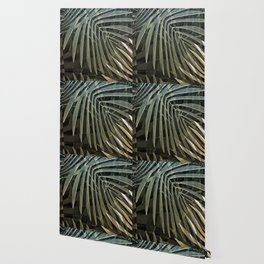 Tropical Palm Print Multi-Colored Wallpaper
