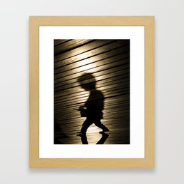 A Slight Resemblance to Bob Dylan, Barcelona Framed Art Print