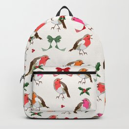 Christmas Robins pattern Backpack