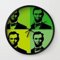 lincoln Wall Clocks featuring Lincoln by Liam Schultz