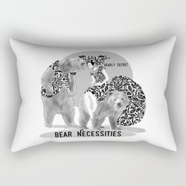 Bear Necessities #1 Bearly Secret Rectangular Pillow