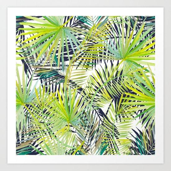 Tropical Frond Pattern Art Print