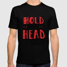 Head Up Mens Fitted Tee Black SMALL