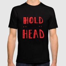 Head Up Mens Fitted Tee MEDIUM Black