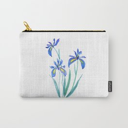 blue iris watercolor Carry-All Pouch