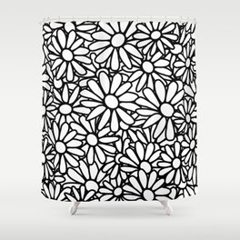 Imperfect Daisy Patch Outline Shower Curtain