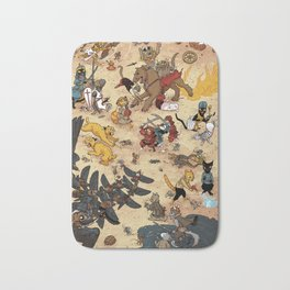 CAT VS MICE Bath Mat