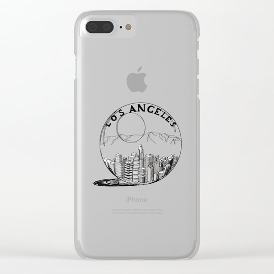 Los Angeles in a glass ball Clear iPhone Case