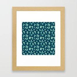 CRYSTALS – [teal] Framed Art Print