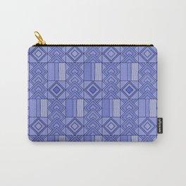 Purple African Ankara Print Carry-All Pouch