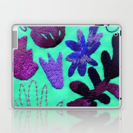 tropical leaves embroidered pattern Laptop & iPad Skin