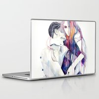 bag Laptop & iPad Skins featuring wakeful by agnes-cecile